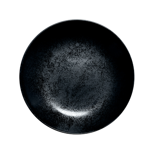 Coupebord diep diam 23cm Carbon Zwart Karbon Rak Porcelain