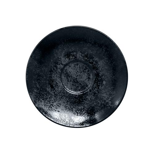 Schotel espressokop diam 13cm Carbon Zwart Karbon Rak Porcelain
