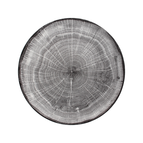 Coupebord plat diam 15cm Beech Grey grijs Woodart Rak Porcelain