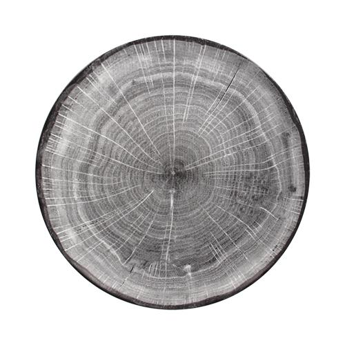 Coupebord plat diam 21cm Beech Grey grijs Woodart Rak Porcelain