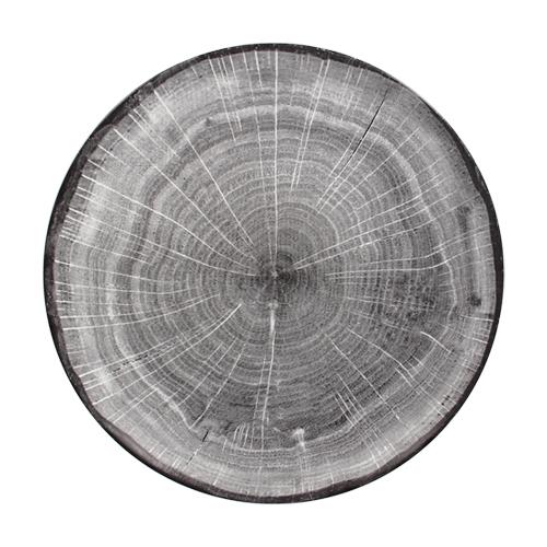 Coupebord plat diam 24cm Beech Grey grijs Woodart Rak Porcelain