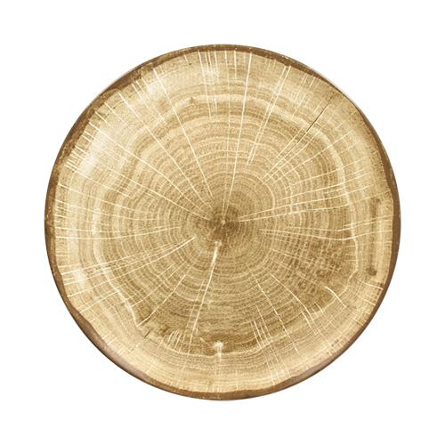 Coupebord plat diam 21cm Moss Green groen Woodart Rak Porcelain