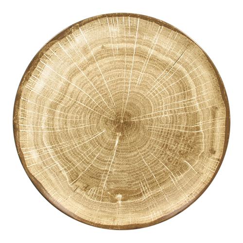 Coupebord plat diam 27cm Moss Green groen Woodart Rak Porcelain
