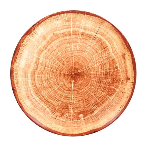 Coupebord plat diam 24cm Timber Brown bruin Woodart Rak Porcelain
