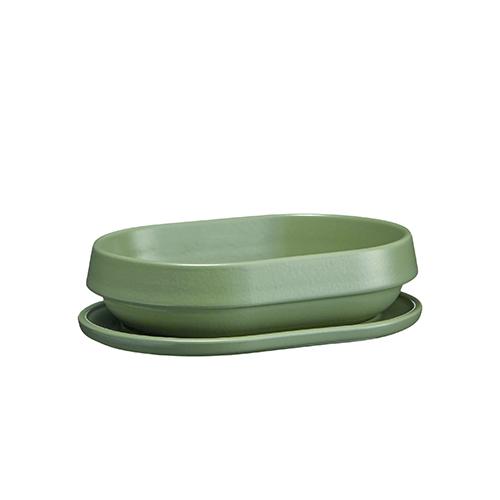 Deksel afm 21x14.5cm groen Vert Cypres Welcome Emile Henry