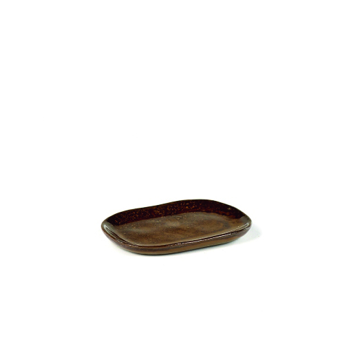 Bord 4s 10cm 6cm ochre brown SERAX la nouvelle table MERCI