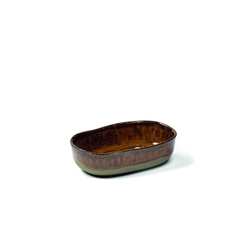 Bord 8s diep 9.8cm 6.5cm ochre brown SERAX la nouvelle table MERCI