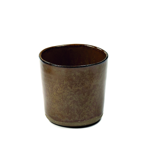 Mok 9 diam 7cm ochre brown SERAX la nouvelle table MERCI