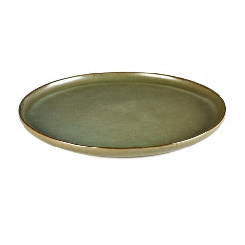 bord rond 24cm camo green surface by sergio herman serax