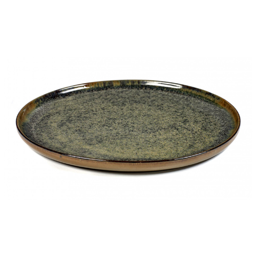 bord rond 24cm indy grey surface by sergio herman serax