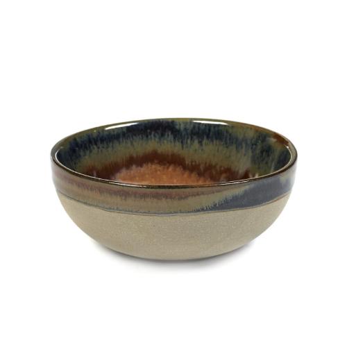 serveerkom 11cm rusty brown surface by sergio herman serax