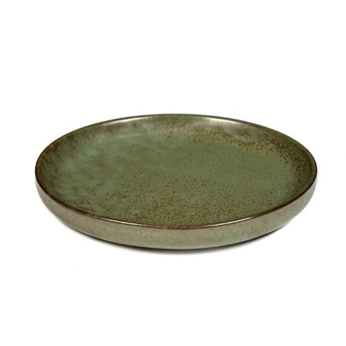 olijfbordje schaaltje 16cm camo green surface by sergio herman serax