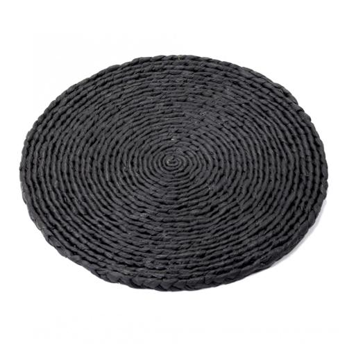 onderzetter coaster l 32 cm zwart hyacint surface by sergio herman serax