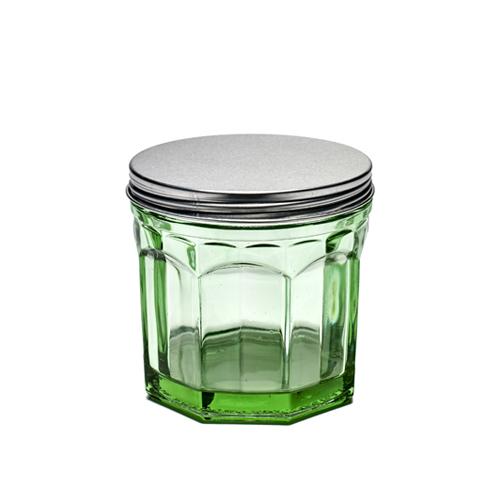 voorraadpot small bokaal geperst glas transparant groen fishfish serax servies