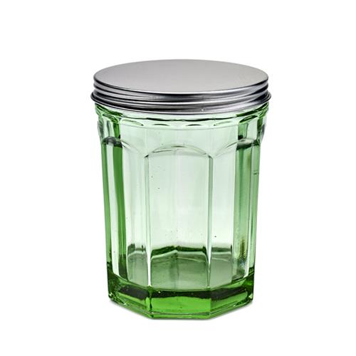 voorraadpot medium bokaal geperst glas transparant groen fishfish serax servies