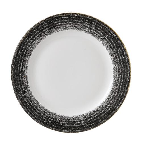 bord met zwarte rand x26 1cm churchill studio prints homespun charcoal black SPCBVP101