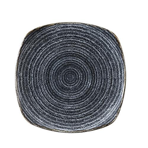 bord vierkant x21 5cm churchill studio prints homespun charcoal black SPCBSP91