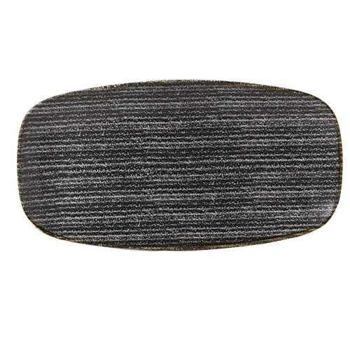 bord rechthoekig x29 8x15 3cm churchill studio prints homespun charcoal black SPCBXO111