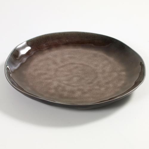 bord rond 28cm pure pascale naessens serax servies bruin
