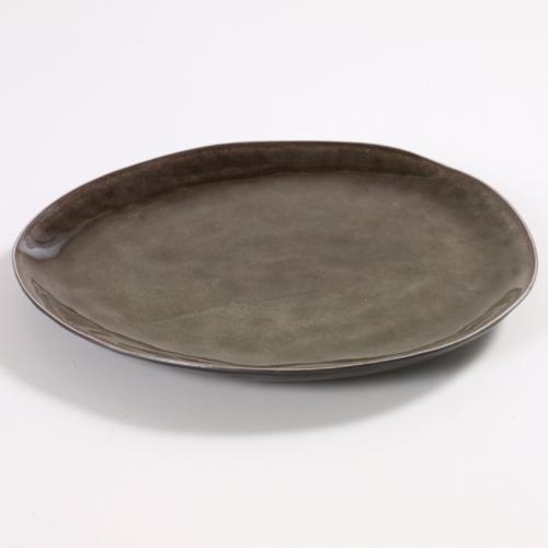 bord ovaal 28x24cm pure pascale naessens serax servies grijs