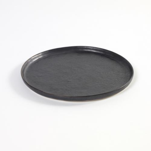 bord rond small 21 5cm pure pascale naessens serax servies zwart