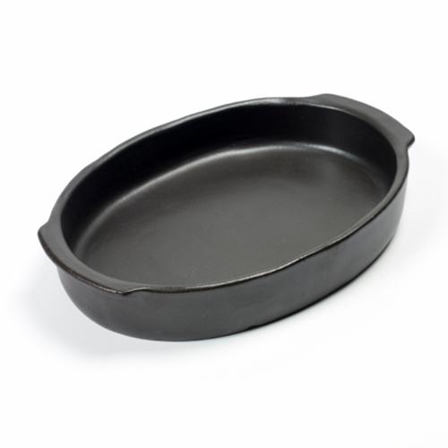 ovenschaal ovaal 30x21cm pure pascale naessens serax servies zwart