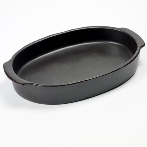 ovenschaal ovaal 37x26cm pure pascale naessens serax servies zwart