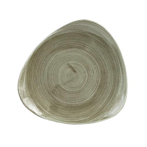 bord driehoekig l 22 9cm churchill stonecast patina burnished green