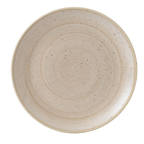 coupebord 28 8cm churchill stonecast nutmeg cream SNMSEV111