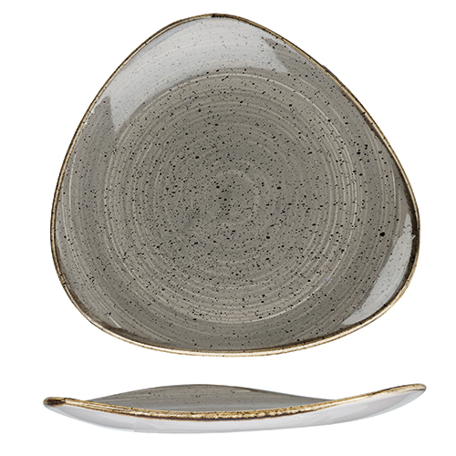 bord driehoekig 31 1cm churchill stonecast peppercorn grey SPGSTR121