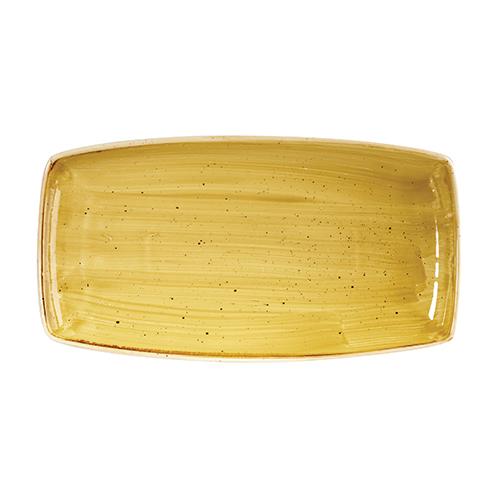 bord rechthoekig 29 5x15cm churchill stonecast mustard seed yellow SMSSOP111