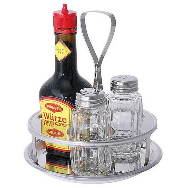 Menage 3 delig peperstrooier zoutstrooier uitsparing Maggi flesje 125g