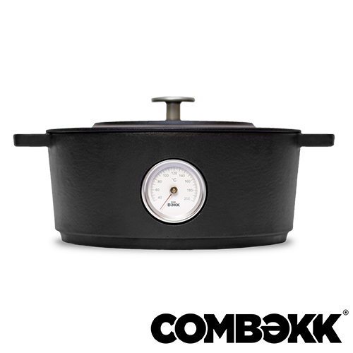 Combekk Dutch Oven thermometer Dark Grey braadpan 28cm antracietgrijs 100128DG