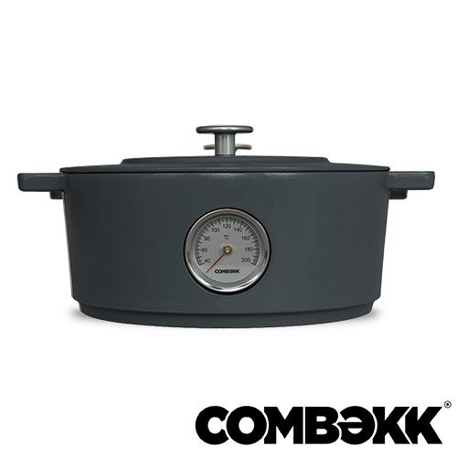Combekk Dutch Oven Concrete thermometer braadpan 28cm betongrijs 100128CC