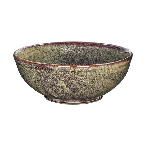 Buffetschaal diam 29cm hoogte 11cm kaito stoneware forrest green