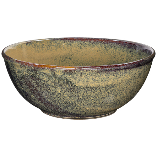 Buffetschaal diam 33cm hoogte 13cm kaito stoneware forrest green