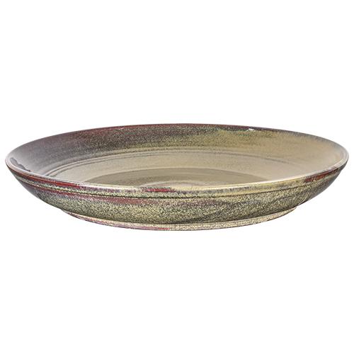 Buffetschaal diam 45cm hoogte 6cm kaito stoneware forrest green