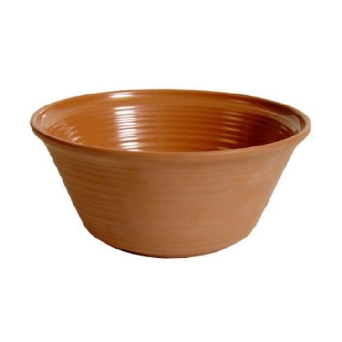 Bowl diam 25 cm inhoud 2,5 liter terracotta matt olaria melamine TT56325M Dalebrook
