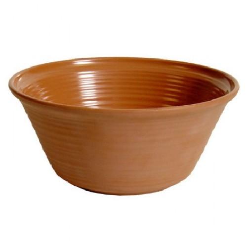 Bowl diam 31 cm inhoud 7 liter terracotta matt olaria melamine TT56331M Dalebrook