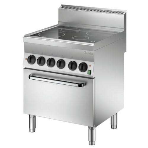 Keramisch kooktoestel 650 B700 4 pits 5 ZO EO Bartscher
