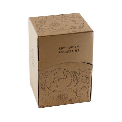 52.0052 FSC houten roerstaafje 110mm dispenser doos 2000 stuks