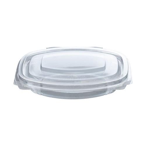 52.0070 PLA saladebakje met klapdeksel 250ml 16.1x13xH3.1cm