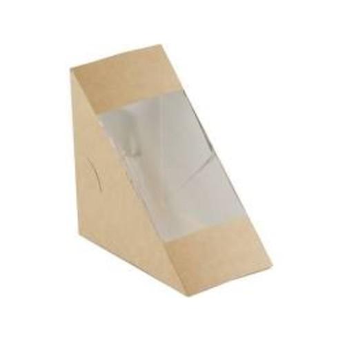 52.0072 FSC Kraft PLA sandwichbox 123x123x72mm