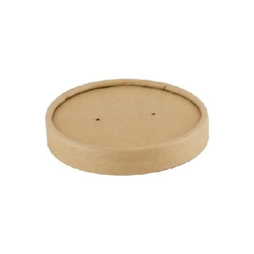 52.0077 Kraft PLA deksel voor soepbeker 240ml 360ml