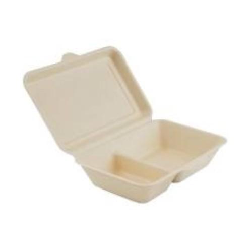 52.0079 Suikerriet menubox2 vaks afm 24x16xH6cm 1000ml bruin open