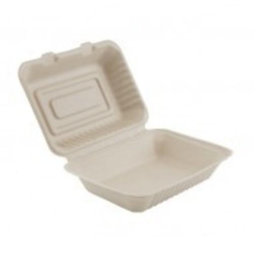 52.0082 Suikerriet menubox 1 vaks afm 16.5x22x7x8cm 1000ml bruin open
