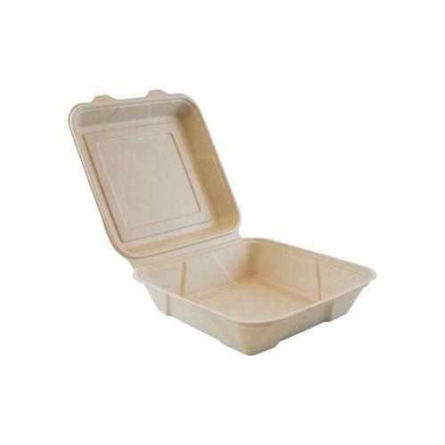 52.0083 Suikerriet menubox 1 vaks afm 24x24xH8cm 15000ml bruin