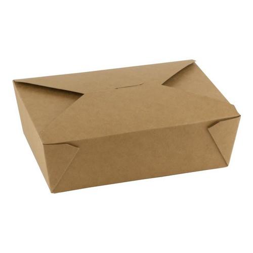 52.0096 FSC kraft PLA taj away box 1800ml afm 197x140xH65mm