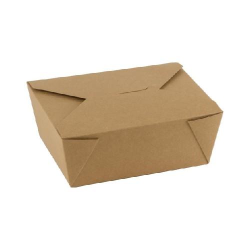 52.0097 FSC kraft PLA taj away box 1300ml afm 152x120xH63mm