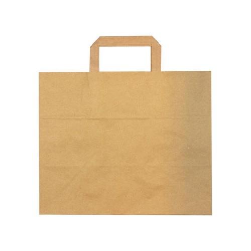 52.0089 FSC papieren blokbodemtas 26x17x26cm bruin